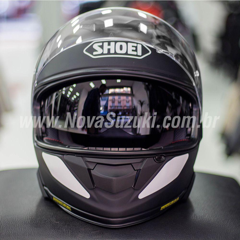 Capacete Shoei GT-Air II Preto Fosco C/ Viseira Solar e Pinlock Anti-Embaçante - GT-Air 2   - Nova Suzuki Motos e Acessórios