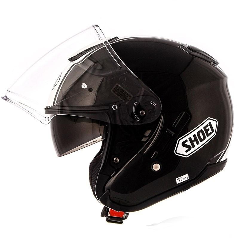 Capacete Shoei J-Cruise Corso Black/white Aberto c/ Viseira Solar - BlackFriday  - Nova Suzuki Motos e Acessórios