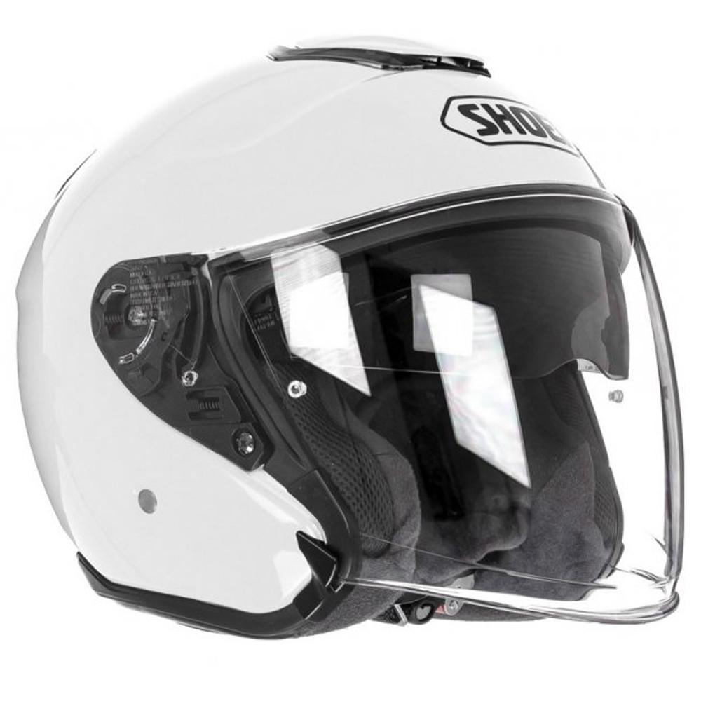 Capacete Shoei J-Cruise White Aberto c/ Viseira Solar  - Nova Suzuki Motos e Acessórios