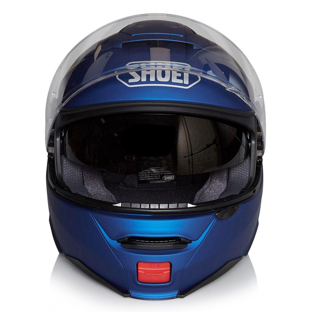 Capacete Shoei Neotec 2 Azul Fosco Escamoteável/Articulado  - Nova Suzuki Motos e Acessórios
