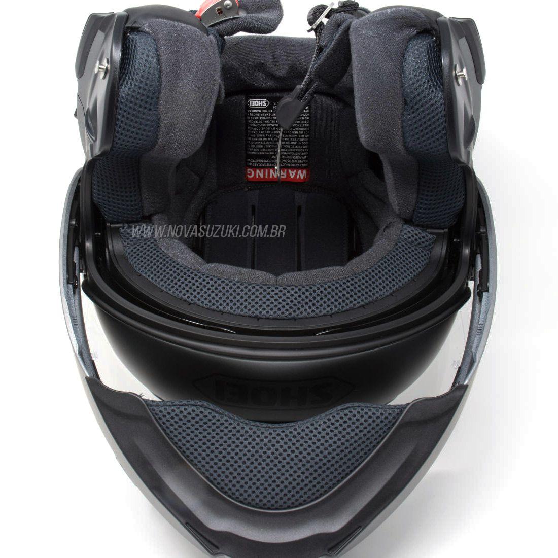 Capacete Shoei Neotec 2 Deep Grey Fosco Escamoteável/Articulado  - Nova Suzuki Motos e Acessórios