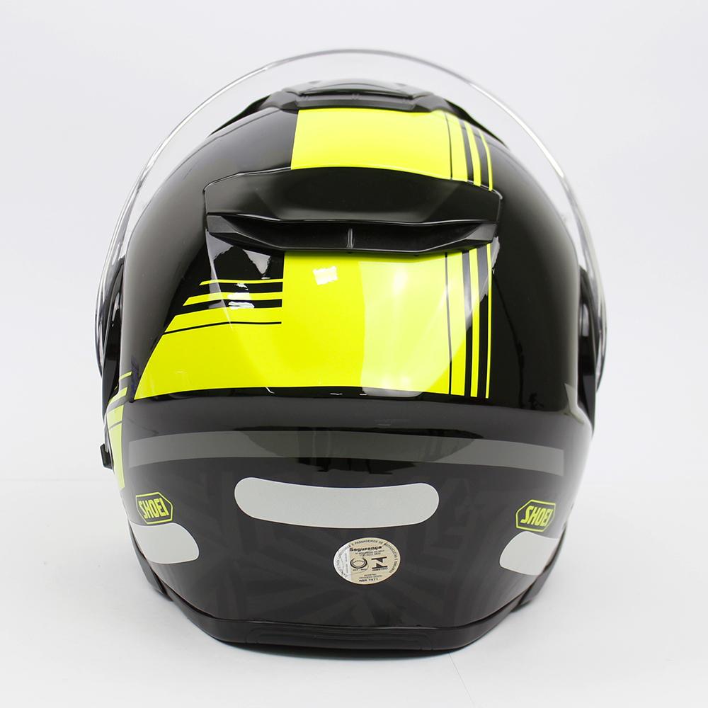 Capacete Shoei Neotec 2 Separator TC-3 Preto/Amarelo Escamoteável/Articulado  - Nova Suzuki Motos e Acessórios