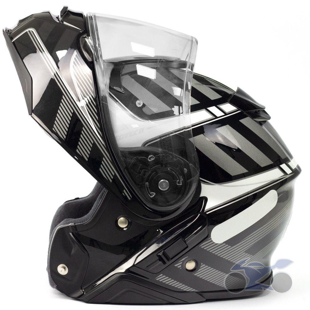 Capacete Shoei Neotec 2 Splicer TC-5 Grey Escamoteável/Articulado  - Nova Suzuki Motos e Acessórios