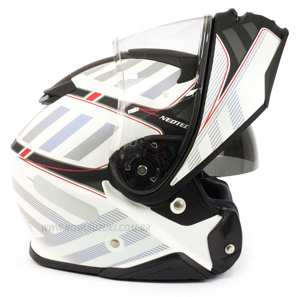 Capacete Shoei Neotec 2 Splicer TC-6 Red Escamoteável/Articulado  - Nova Suzuki Motos e Acessórios