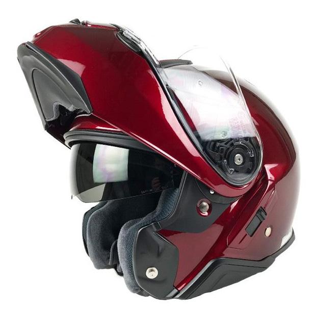 Capacete Shoei Neotec 2 Vinho Escamoteável/Articulado  - Nova Suzuki Motos e Acessórios