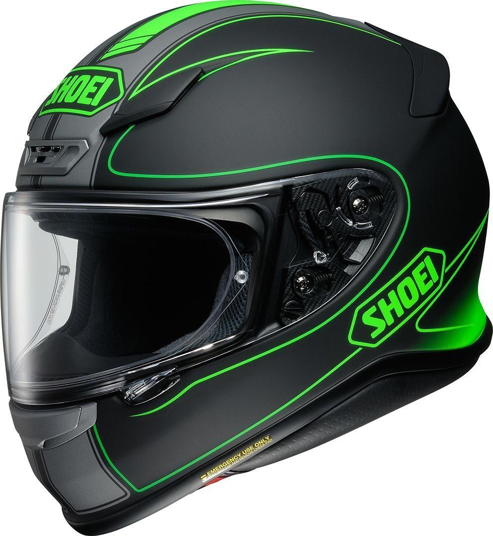 Capacete Shoei NXR Flagger TC-4 Preto/Verde - NOVO!  - Nova Suzuki Motos e Acessórios