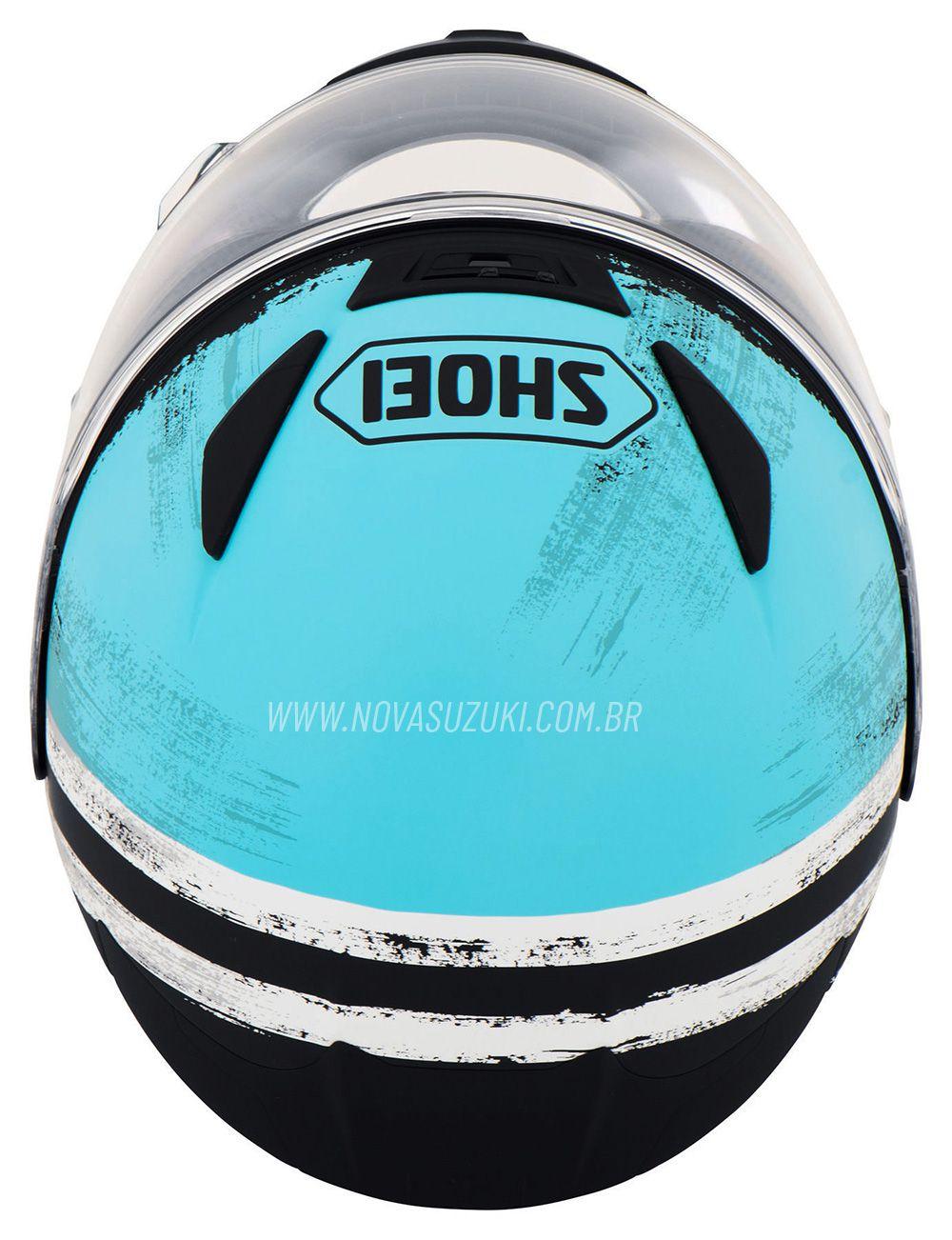 Capacete Shoei NXR Shorebreak Tc-2 Azul Claro para Esportivas - Lançamento  - Nova Suzuki Motos e Acessórios