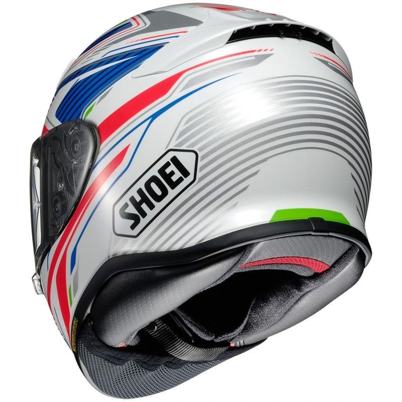 Capacete Shoei NXR Stab TC-2 Branco/Azul para Esportivas - Lançamento  - Nova Suzuki Motos e Acessórios