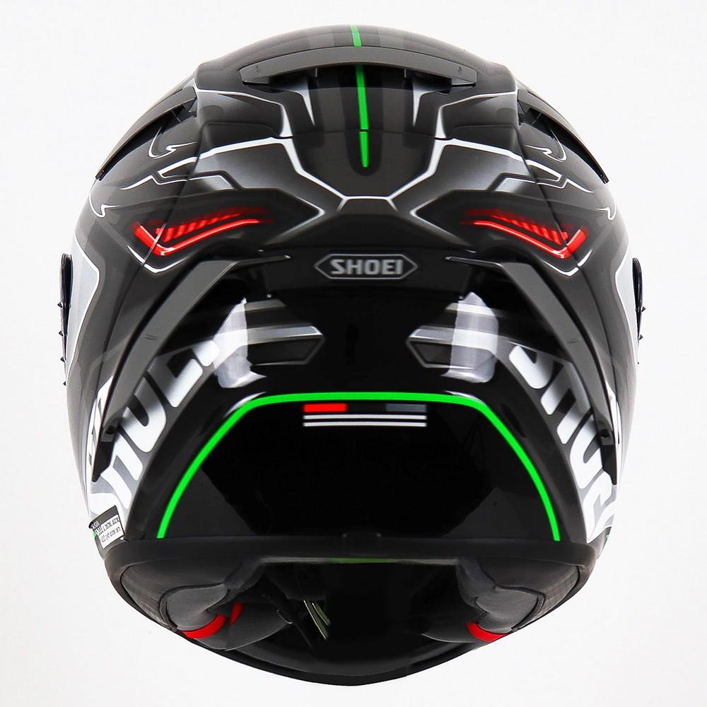 Capacete Shoei X-Spirit III Aerodyne TC-4 Cinza/Verde - (X-Fourteen / ESPORTIVO)  - Nova Suzuki Motos e Acessórios