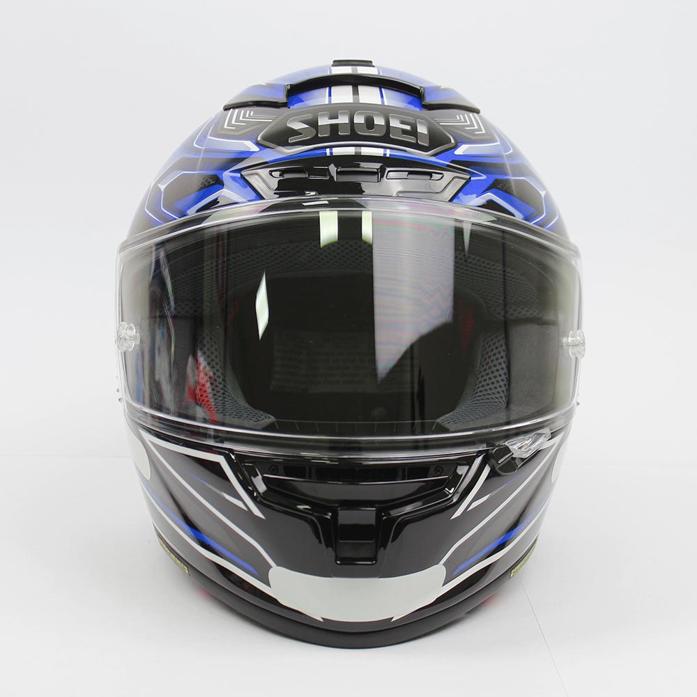 Capacete Shoei X-Spirit III Aerodyne TC-2 Azul/Preto/Cinza - (X-Fourteen / ESPORTIVO)  - Nova Suzuki Motos e Acessórios