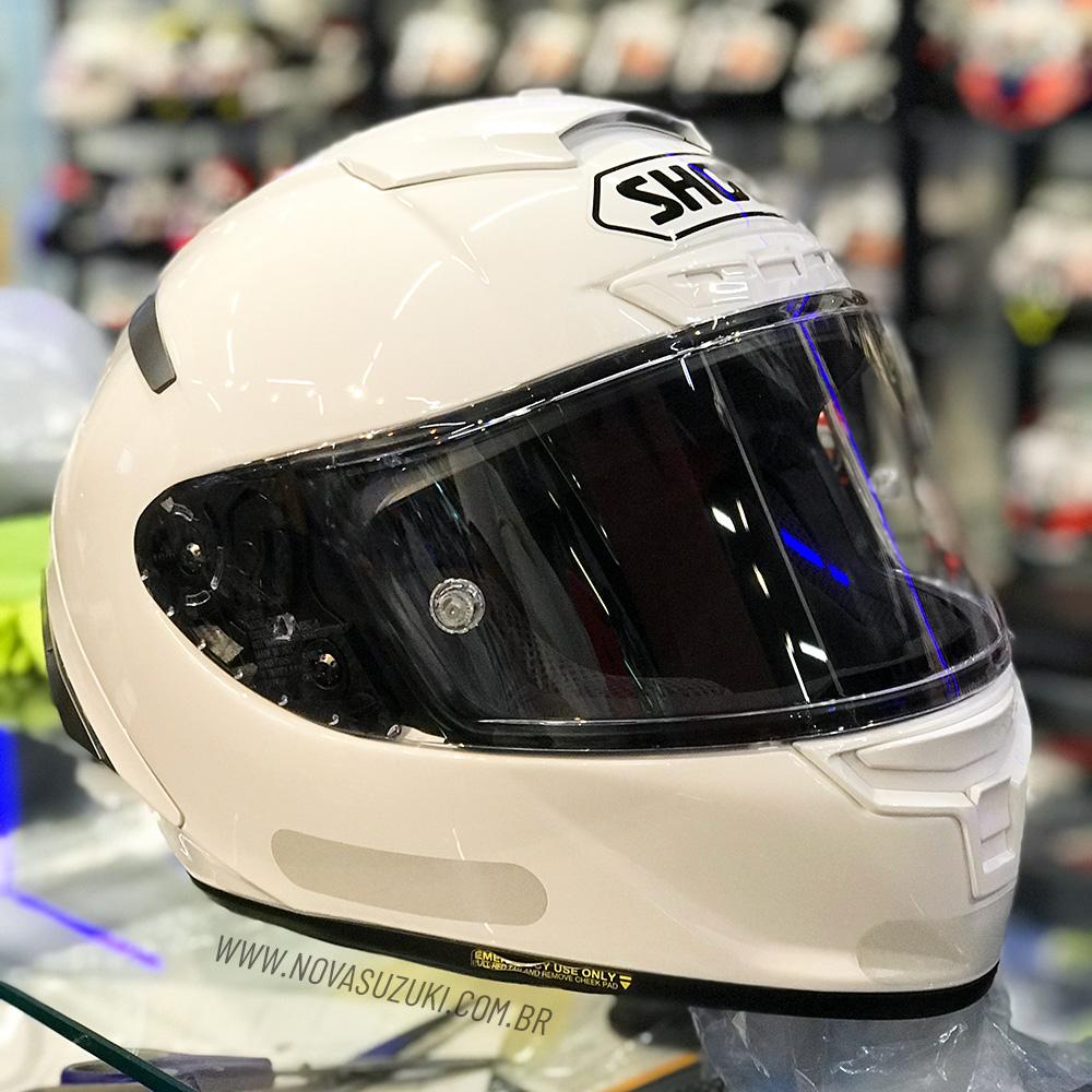 Capacete Shoei X-Spirit III Branco X-Fourteen  - Nova Suzuki Motos e Acessórios