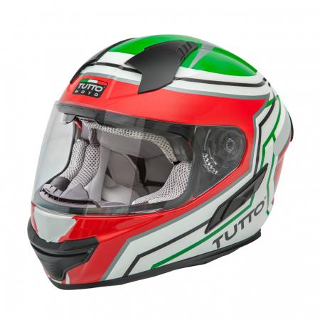 Capacete Tutto Racing Itália c/Óculos Interno - GANHE Viseira Espelhada!  - Nova Suzuki Motos e Acessórios