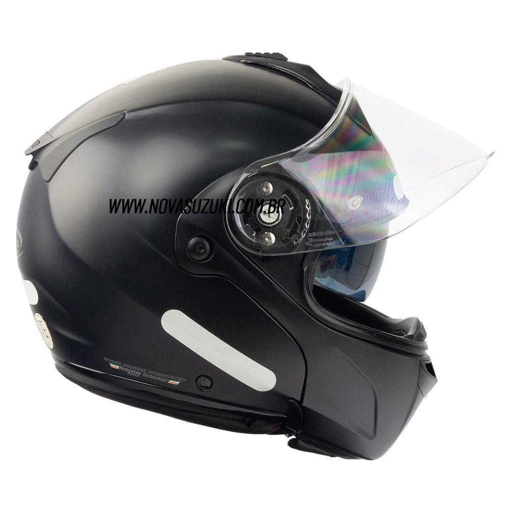 Capacete X-Lite X-1004 Elegance Matte Black - Escamoteável / Articulado  - Nova Suzuki Motos e Acessórios