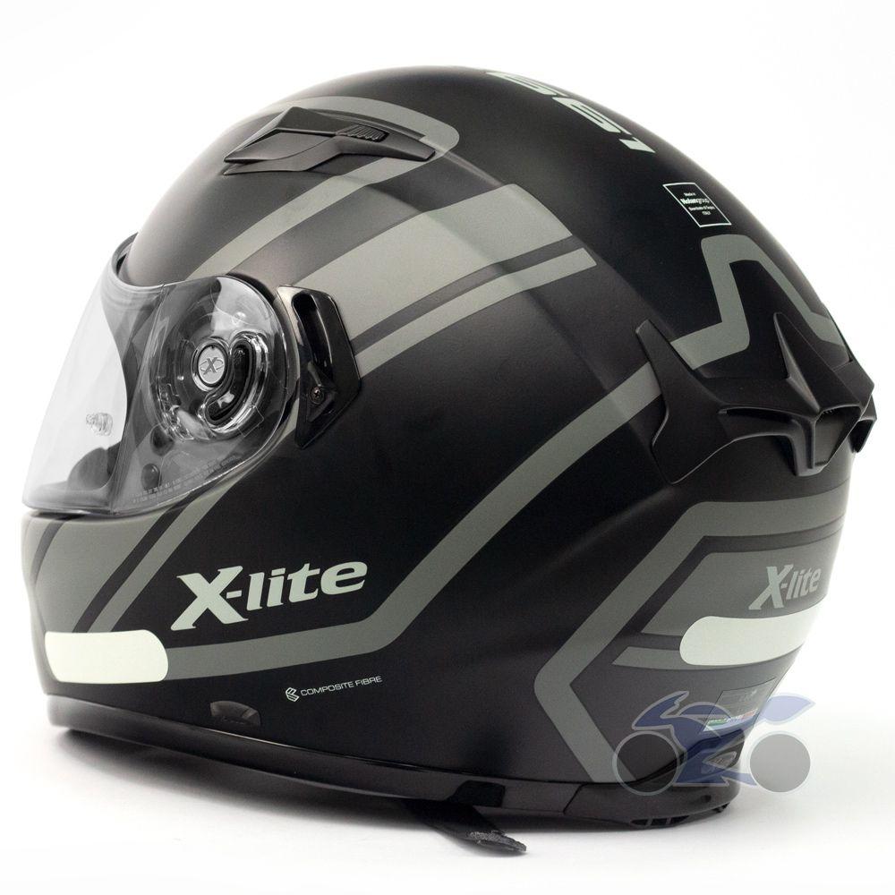 Capacete X-Lite X-661 Conrad Flat Black (43) - GANHE TOUCA BALACLAVA X-LITE - MegaOferta!  - Nova Suzuki Motos e Acessórios