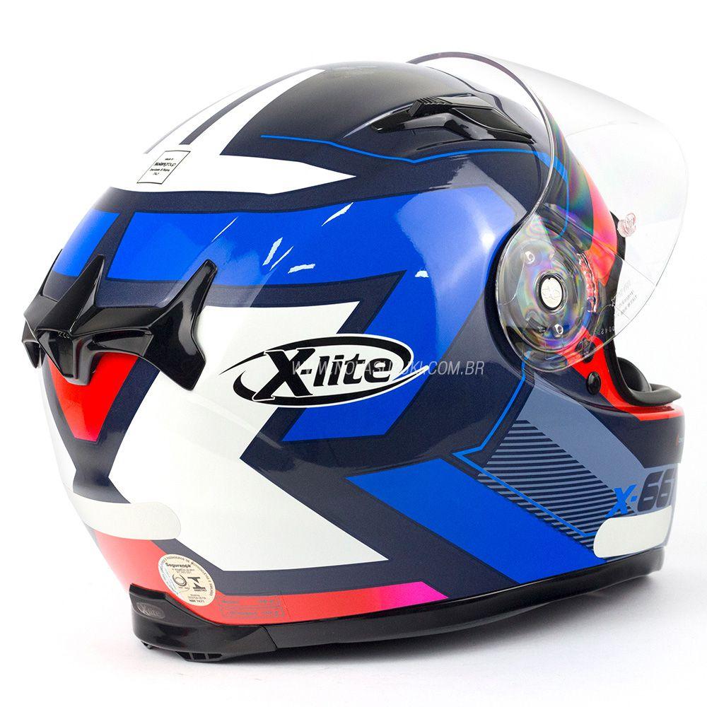 Capacete X-lite X-661 Motivator Azul (45) - GANHE TOUCA BALACLAVA X-LITE - Blackfriday  - Nova Suzuki Motos e Acessórios