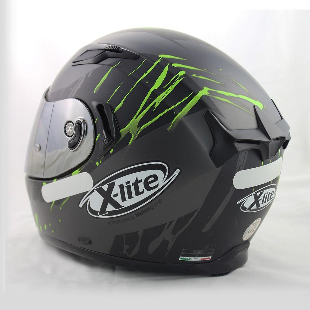 CAPACETE X-LITE X-661 SPOX GREEN (TRI-COMPOSTO + VISEIRA INTERNA) - Ganhe Balaclava Exclusiva!  - Nova Suzuki Motos e Acessórios