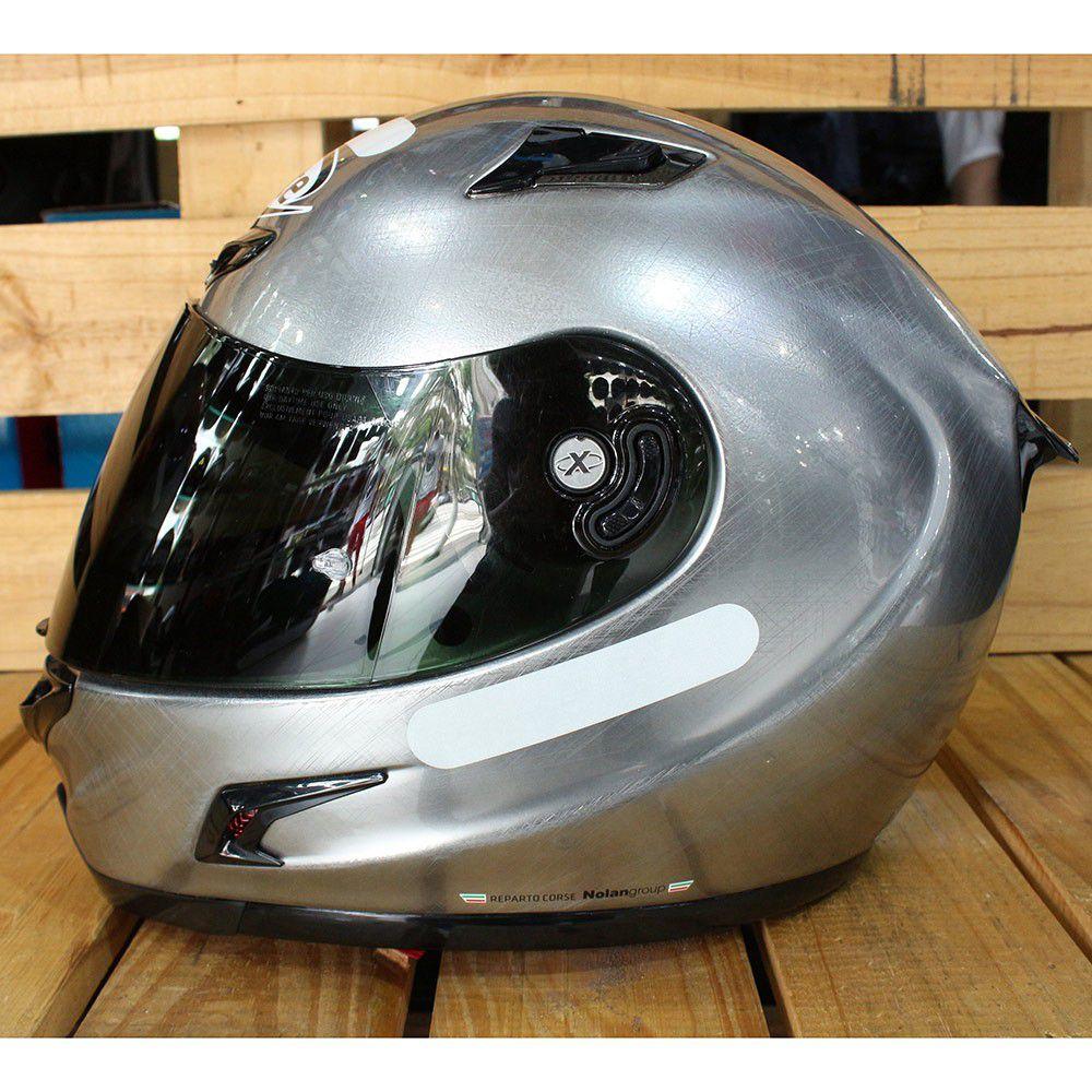 Capacete X-Lite X-802RR Start Scratched Chrome - Ganhe Balaclava Exclusiva!  - Nova Suzuki Motos e Acessórios