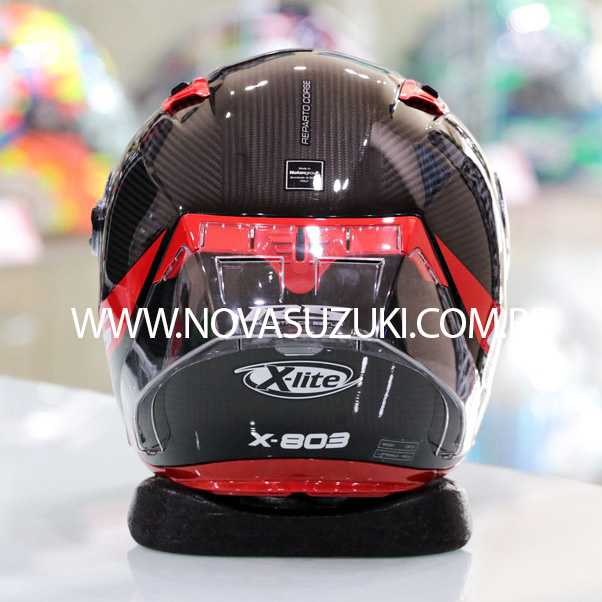 Capacete X-Lite X-803RS Ultra Carbon Preto Esportivo - Ganhe Touca Balaclava -  (Grupo Nolan)  - Nova Suzuki Motos e Acessórios