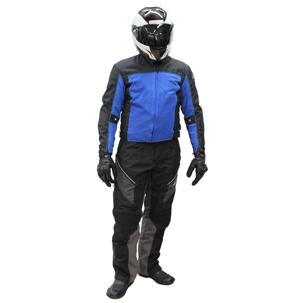 Conjunto Jaqueta Joe Rocket Velocity + Calça Alter Ego 2.0 (Ventiladas e Impermeáveis) - Azul  - Nova Suzuki Motos e Acessórios