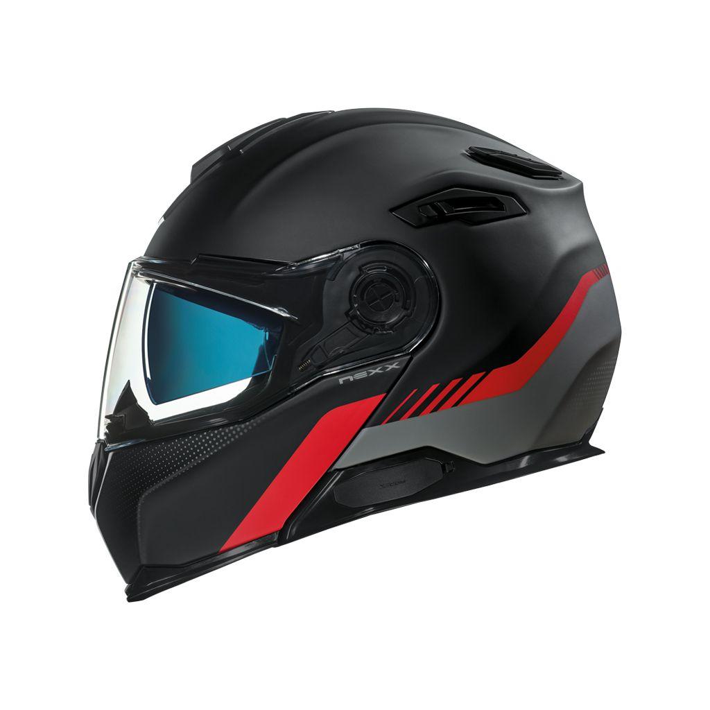 Capacete Nexx X-Vilitur LATITUDE BLACK/RED MT  - Nova Suzuki Motos e Acessórios