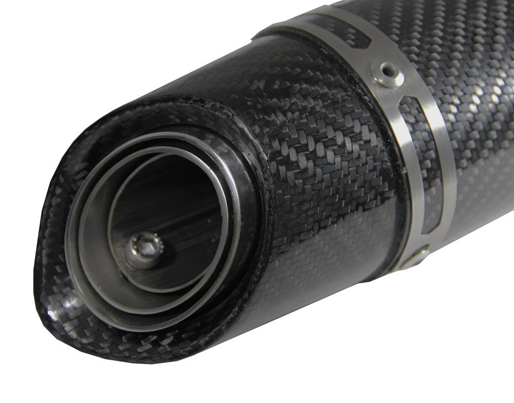 Escapamento Jeskap GP Carbon Alumínio 25CM Honda (Alum. Preto/ Carbono)  - Nova Suzuki Motos e Acessórios