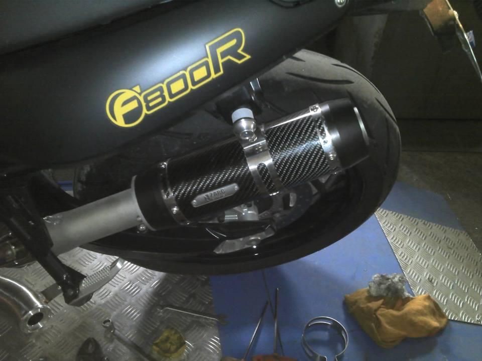 Escapamento Zarc Turbo Para BMW F800R  - Nova Suzuki Motos e Acessórios