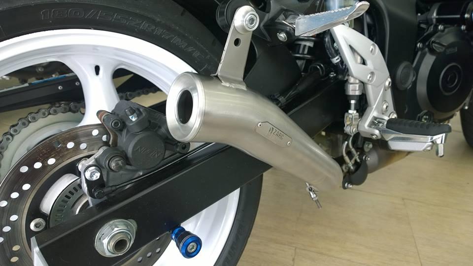 Escapamento Zarc Mini Snake  Para Suzuki GSR 750  - Nova Suzuki Motos e Acessórios