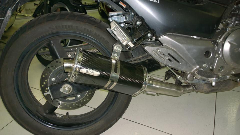 Escapamento Zarc Tri-Oval Para Suzuki  Inazuma  - Nova Suzuki Motos e Acessórios