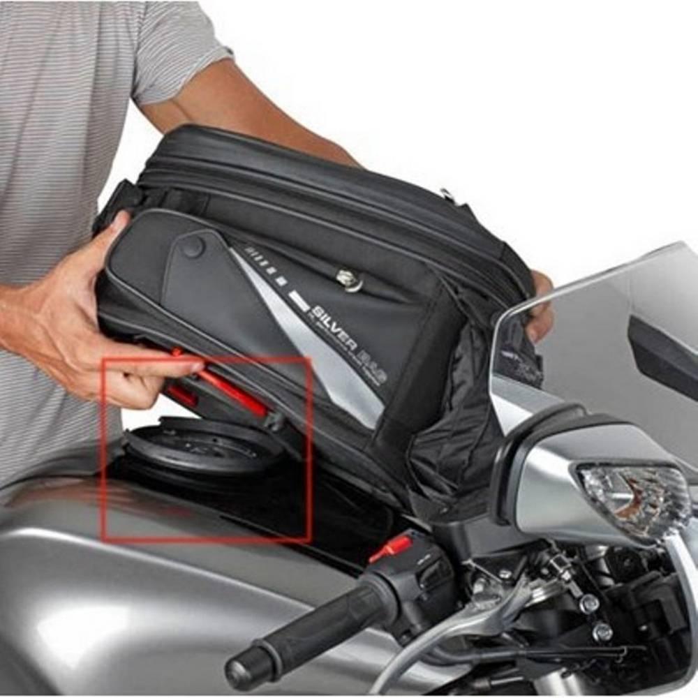 Flange (bocal) específica p/ fixação de bolsas Tanklock Givi DL650 (BF01 12 à 17 / Até 2012 BF10) e Gladius 650  - Nova Suzuki Motos e Acessórios