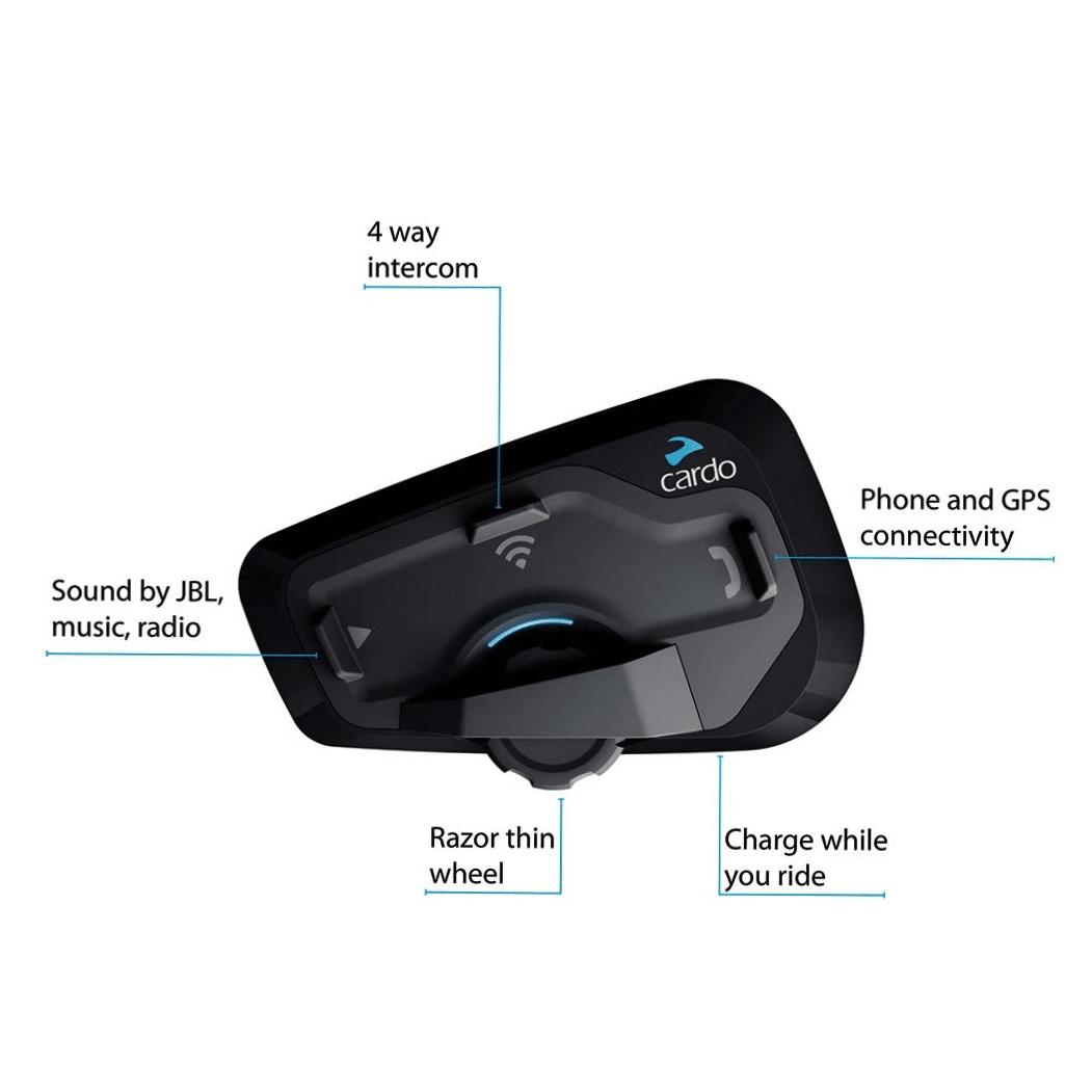 Intercomunicador Bluetooth Cardo Scala Rider Freecom 4 c/ áudio JBL DUO  - Nova Suzuki Motos e Acessórios