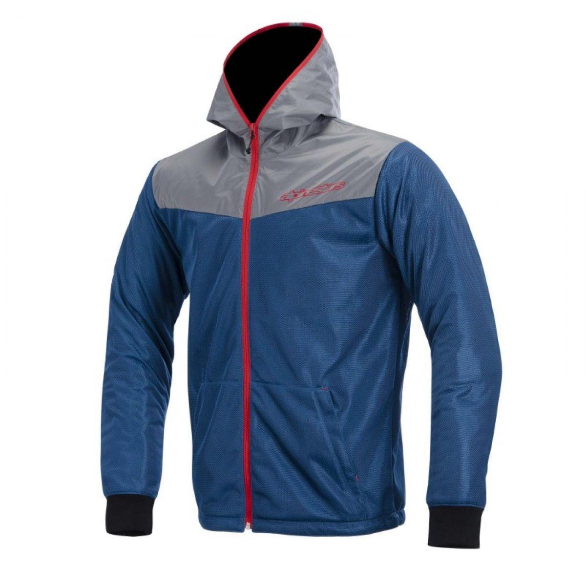 Jaqueta Alpinestars Runner Air Azul/Vermelha  - Nova Suzuki Motos e Acessórios