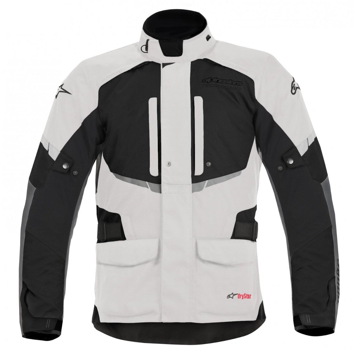 Jaqueta Alpinestars Andes Drystar® Cinza Claro Parka  - Nova Suzuki Motos e Acessórios
