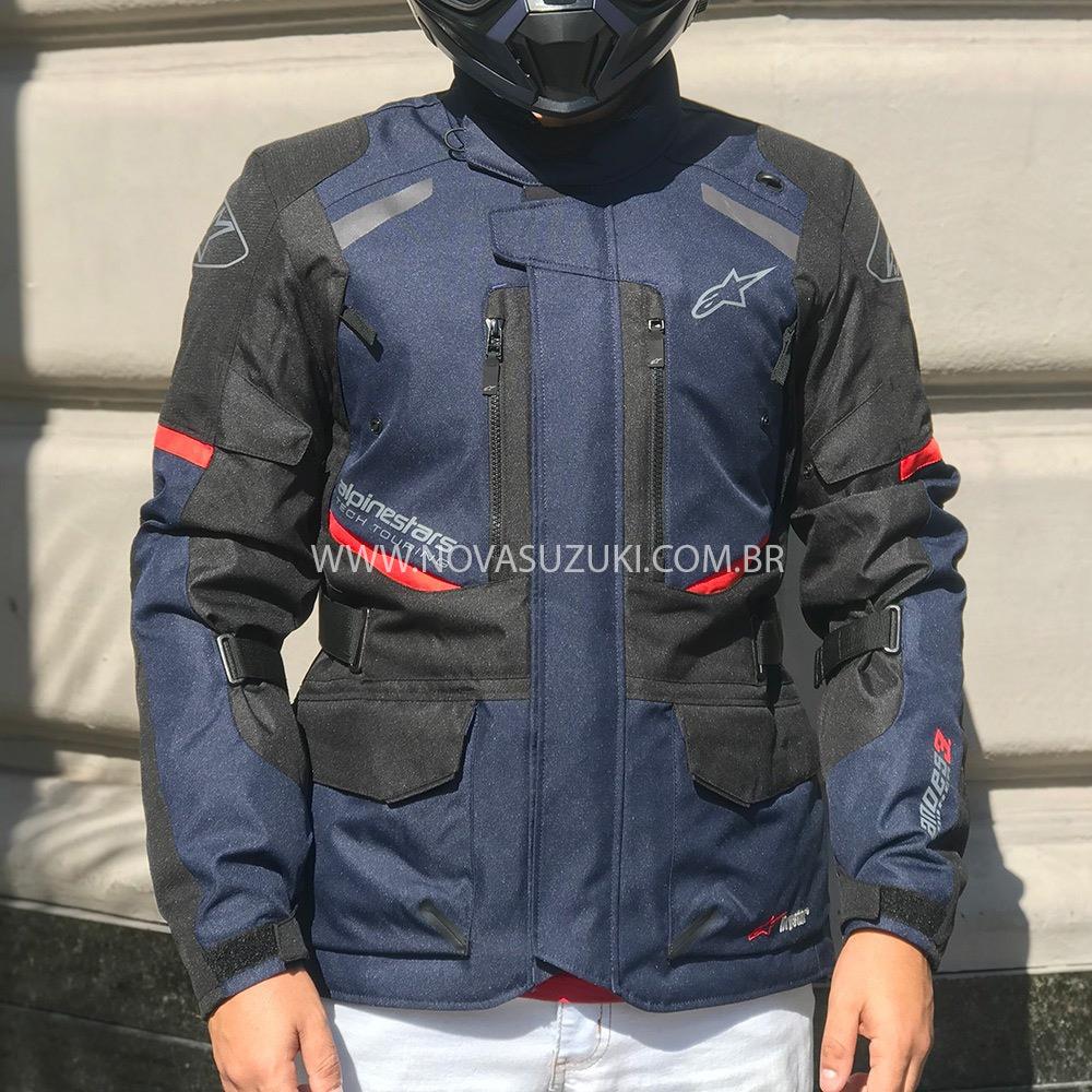 Jaqueta Alpinestars Andes V3 Drystar® Azul Parka  - Nova Suzuki Motos e Acessórios