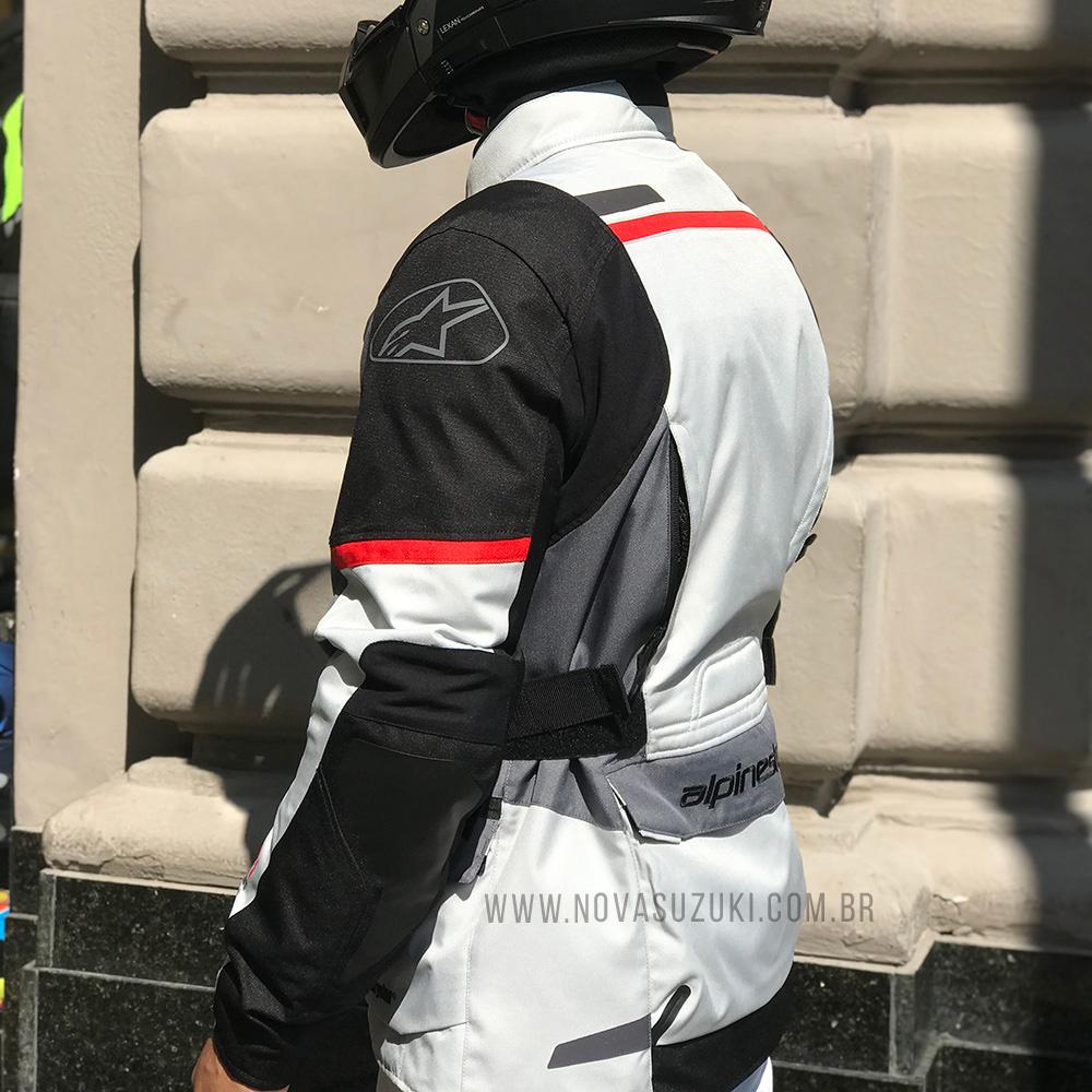 Jaqueta Alpinestars Andes V3 Drystar® Gelo/Cinza Parka  - Nova Suzuki Motos e Acessórios