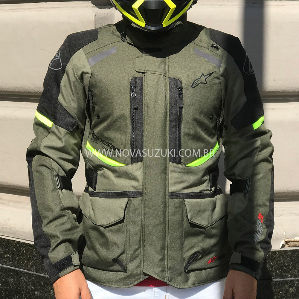 Jaqueta Alpinestars Andes V3 Drystar® Green/Military Parka  - Nova Suzuki Motos e Acessórios