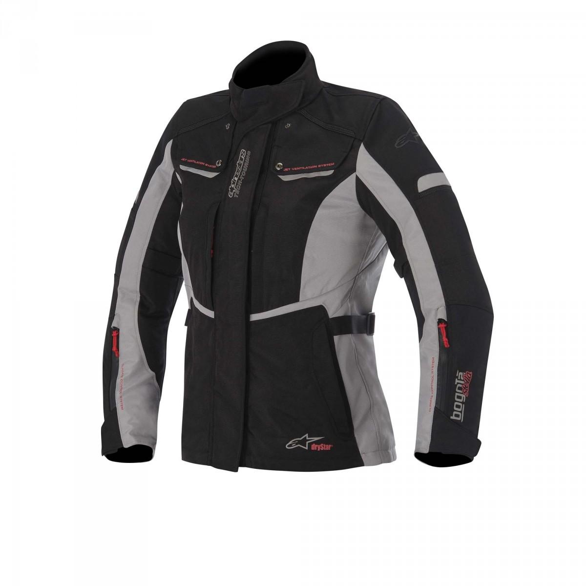 Jaqueta Stella Alpinestars Bogotá Drystar® Preta  - Nova Suzuki Motos e Acessórios