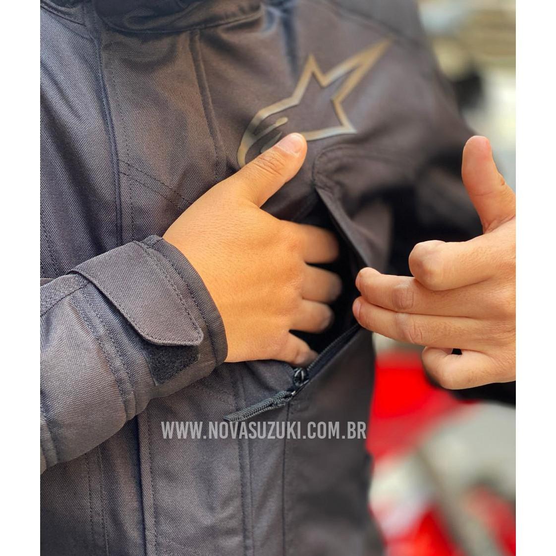 Jaqueta Alpinestars Gravity Drystar® Black (Parka Big Trail)  - Nova Suzuki Motos e Acessórios