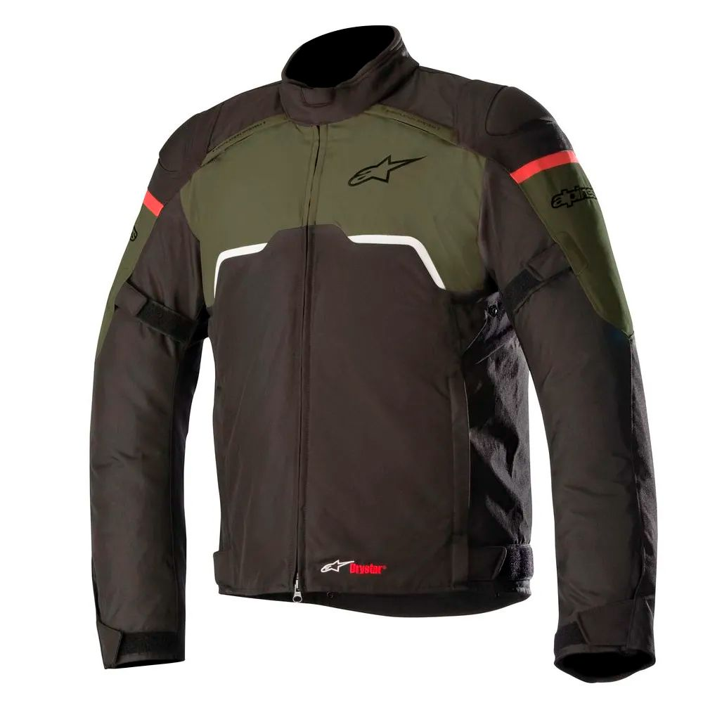 Jaqueta Alpinestars Hyper Drystar - Black/Military Green  - Nova Suzuki Motos e Acessórios