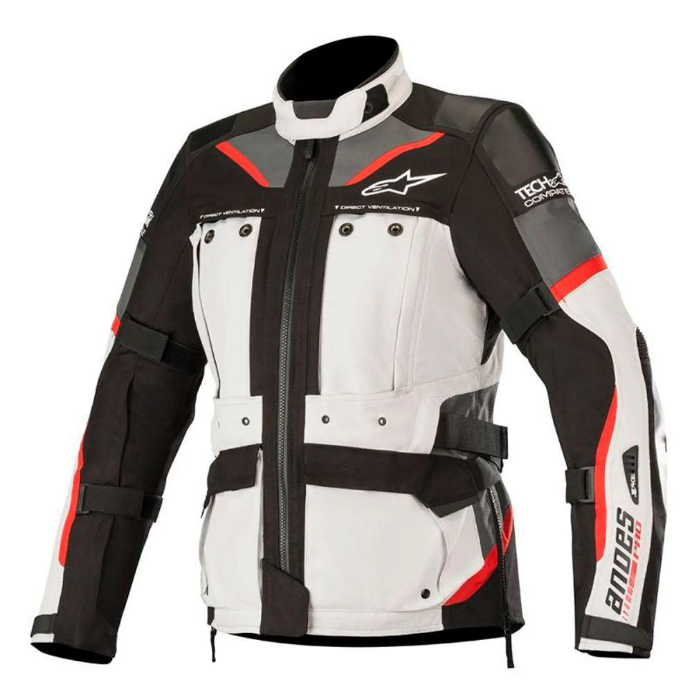 Jaqueta Alpinestars Stella Andes Pro Drystar Tech Air - Light Gray/Black/Gray/Red  - Nova Suzuki Motos e Acessórios