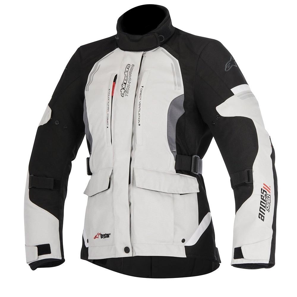 Jaqueta Alpinestars Stella Andes V2 Drystar Cinza/Preto - Parka - 100% IMPERMEÁVEL  - Nova Suzuki Motos e Acessórios