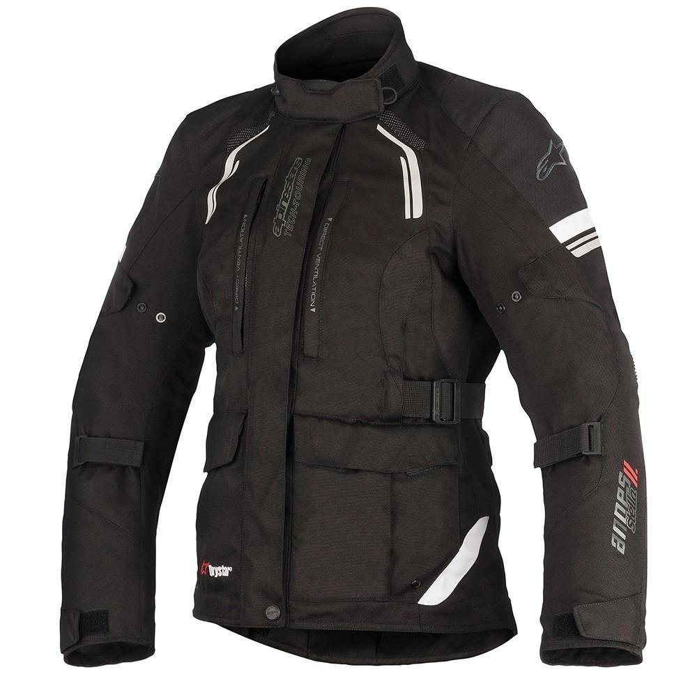 Jaqueta Alpinestars Stella Andes V2 Drystar Preta - Parka - 100% IMPERMEÁVEL  - Nova Suzuki Motos e Acessórios