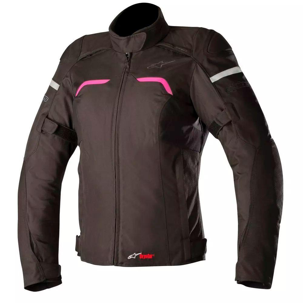 Jaqueta Alpinestars Stella Hyper Drystar - Black/Fuchsia  - Nova Suzuki Motos e Acessórios