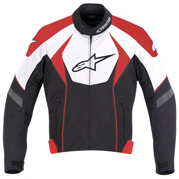 Jaqueta Alpinestars T-GP  R  Waterproof Preta/Branca/Vermelha  - Nova Suzuki Motos e Acessórios