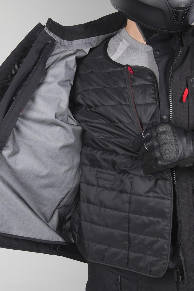 Jaqueta Alpinestars Valparaiso V3 Drystars Preto parka  - Nova Suzuki Motos e Acessórios