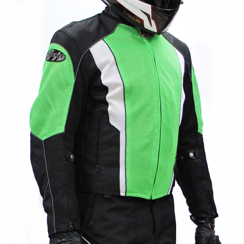 Jaqueta Joe Rocket Phoenix 2.0 Verde Impermeável e Ventilada  - Nova Suzuki Motos e Acessórios