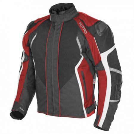 Jaqueta Lucca Vermelho Branco  Masculina (Só 3XL e 4XL)  - Nova Suzuki Motos e Acessórios