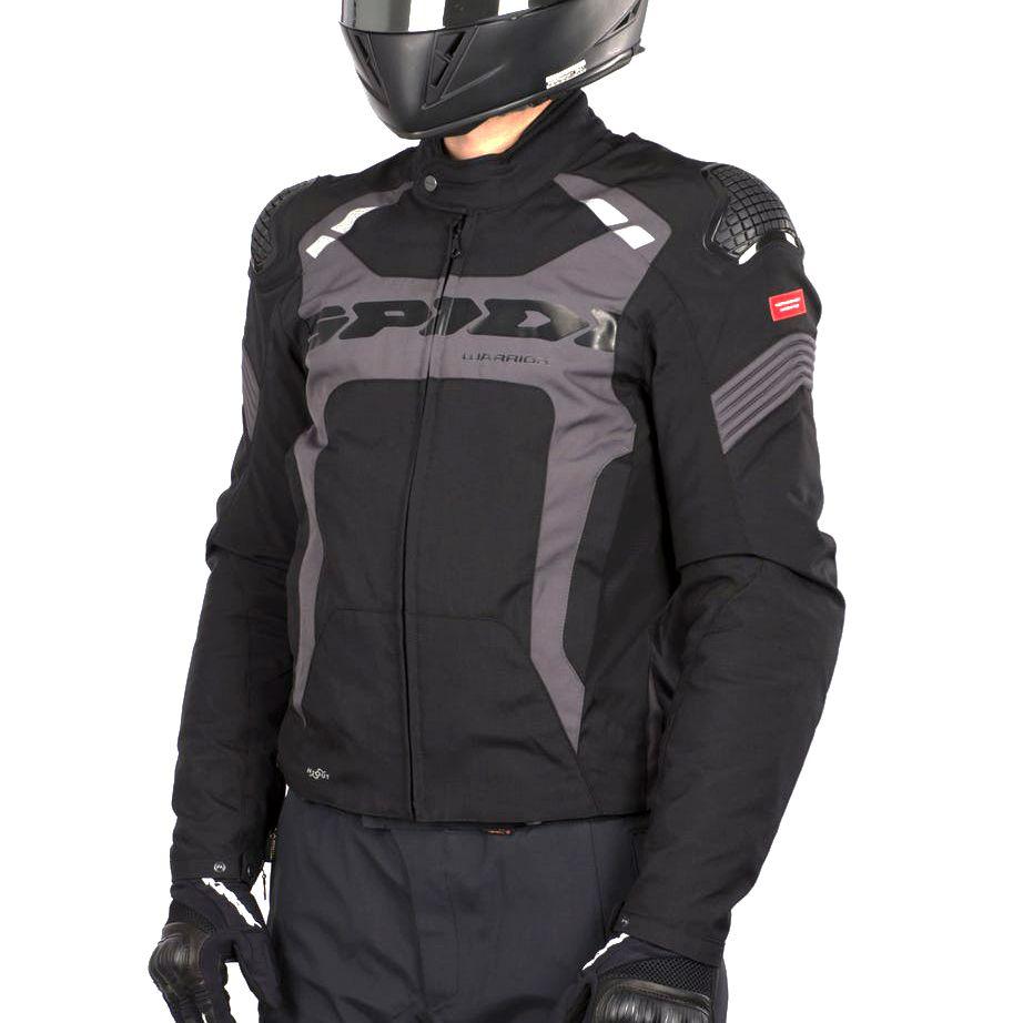 Jaqueta Spidi Warrior H2OUT Cinza Impermeável  - Nova Suzuki Motos e Acessórios