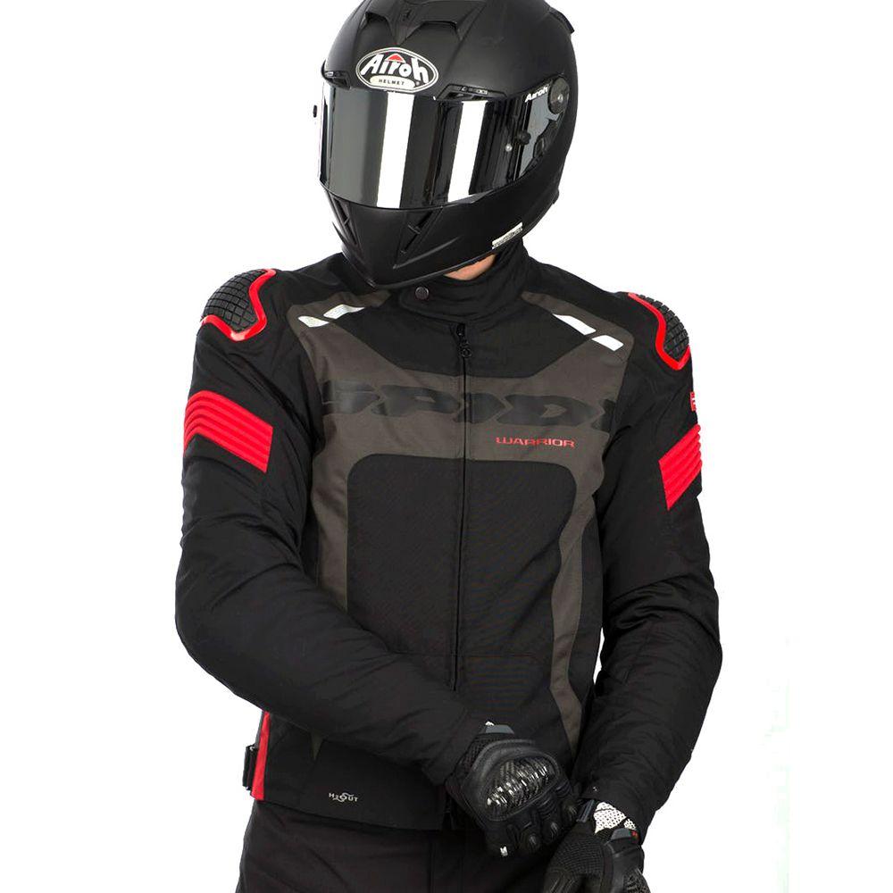 Jaqueta Spidi Warrior H2OUT VERMELHO Impermeável  - Nova Suzuki Motos e Acessórios