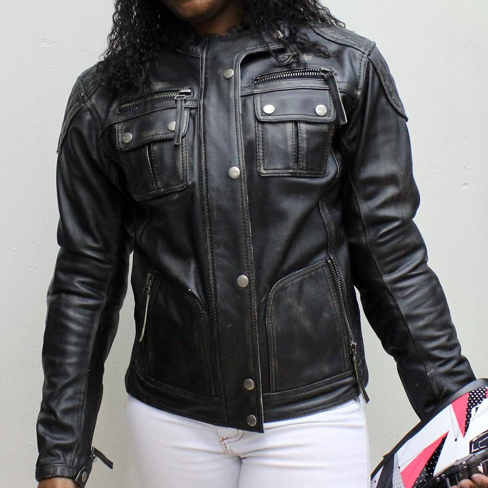 Jaqueta Tutto Custom Couro Lady Feminina  - Nova Suzuki Motos e Acessórios