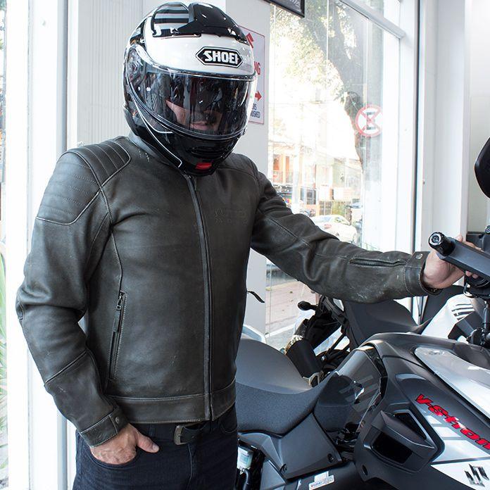 Jaqueta Tutto Moto Coffee Couro - Super Queima   - Nova Suzuki Motos e Acessórios